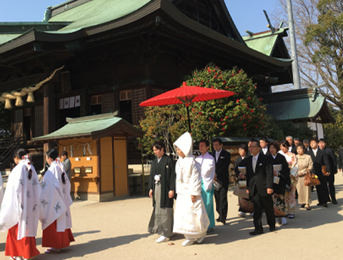 神社挙式(家族婚)